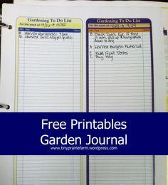 Garden Journal Printables