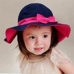 b60c2425ee8 New Baby Summer Outdoor Bucket Hat Children Bowknot Sun Protection Cap  Beach Bucket Beanies Caps Cotton Soft Cute Girls Sun Hat