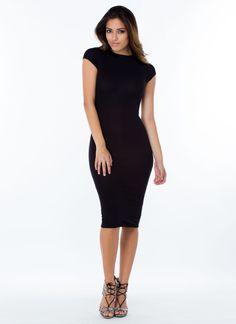 Heartbreaker Babe Bodycon Dress MUSTARD FUCHSIA BLACK WHITE - GoJane.com
