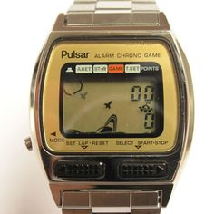 Pulsar Game LCD Watch