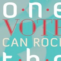 ONE VOTE CAN ROCK THE BOAT, LAURA T. ALWIN @AIGAChicago, @AIGA