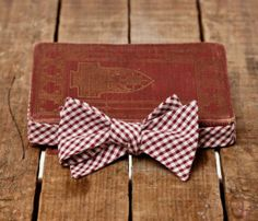 Red check now tie