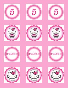hello kitty cupcake topper template - diy free hello kitty cupcake topper justlovedesign