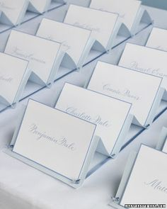 wedding reception place cards Dearly Beloved Pinterest Place