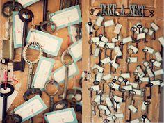 keys place cards