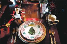 Johnson Brothers Pink Castles Christmas. The mugs have an old fashion Santa. Gorgeous serving pieces to match.