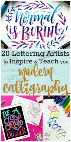In order to become an expert in modern calligraphy, a little hand lettering inspiration is needed. I've rounded up my favorite hand lettering accounts.