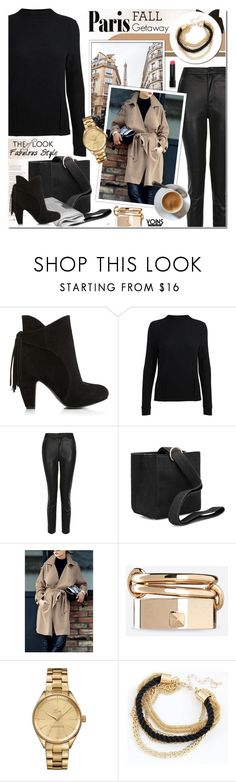 """I Love Paris in the Fall - yoins 2.11"" by cly88 ❤ liked on Polyvore featuring Topshop, Valentino, Lacoste and Bobbi Brown Cosmetics"
