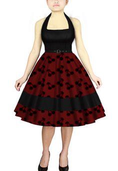 Rockabilly cherry dress