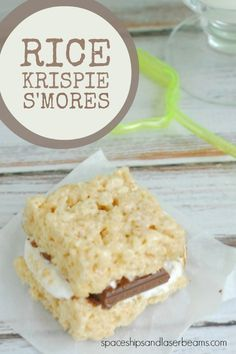 Kid's Party Food: Rice Krispie Treat S'Mores - Spaceships and Laser Beams