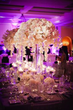 We'll have LED lighting in our ballroom, and I think the blush flowers will look amazing against it