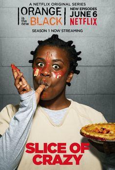 Suzanne 'Crazy Eyes' Warren ~ Orange is the New Black ~ Season 2 Posters Orange Is The New Black, New Black Movies, Oitnb Season 2, Serie Orange, Black Tv Series, Uzo Aduba, Netflix Releases, Crazy Eyes, Netflix Original Series