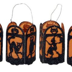 Old-Time Lantern Ornaments from Vintage Halloween | Square Market