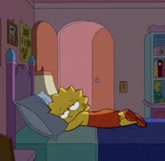 Even though she's technically only 8 years old, Lisa Simpson might be the most emotionally mature character on The Simpsons. Lisa Simpsons, Simpsons Quotes, Mood Wallpaper, Cartoon Wallpaper, Rainbow Anime, Image Simpson, Simpson Wave, Anime Pokemon, Cartoon Pics
