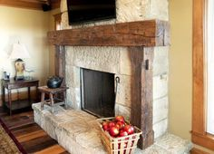 Fireplace Mantel Ideas | Candels, Mirrors, Flowers, Pictures   Rustic  Fireplace Mantels Kacheln