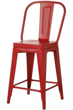 Garden Bar Stool, Red - contemporary - bar stools and counter stools - Home Decorators Collection Red Bar Stools, Bar Stools With Backs, Home Bar Furniture, Kitchen Furniture, Furniture Ideas, Contemporary Bar Stools, Painted Stools, Counter Height Stools, Garden Bar