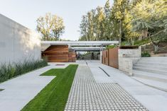 Architect Christopher Mercier of (fer) Studio was in the midst of building a carport and swimming pool for photographer Davis Factor's midcentury home in California's San Fernando Valley  ~ Great pin! For Oahu architectural design visit http://ownerbuiltdesign.com #fachadasminimalistasblancas