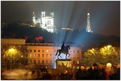 View from place Bellecour to Fourviere. Lyon. Spent there 2 wonderful months!