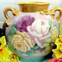 Limoges vase drakon handels.