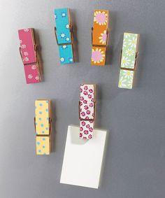 Clothes Pin Magnet Set