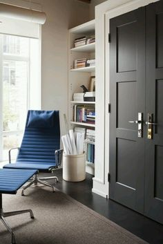 Interior black doors