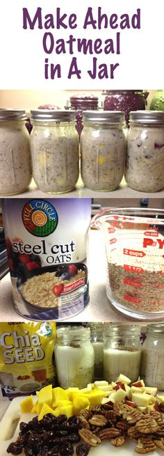 Oatmeal in a Jar also called Refrigerator Oatmeal.