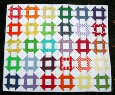 Rainbow Churn Dash Quilt | Flickr - Photo Sharing!  mollybquilts.blogspot.com