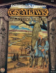 Greyhawk Player's Guide (2e) - Greyhawk | Book cover and interior art for Advanced Dungeons and Dragons 2.0 - Advanced Dungeons & Dragons, D&D, DND, AD&D, ADND, 2nd Edition, 2nd Ed., 2.0, 2E, OSRIC, OSR, d20, fantasy, Roleplaying Game, Role Playing Game, RPG, Wizards of the Coast, WotC, TSR Inc. | Create your own roleplaying game books w/ RPG Bard: www.rpgbard.com | Not Trusty Sword art: click artwork for source