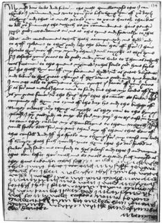 A letter written by Princess Margaret Tudor to her father, Henry VII. The letter is made up mostly of Margaret asking her father to thank her servants and people of the Tudor court who tended to her whilst she was in England and those who accompanied her to Scotland.