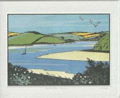 Colin Moore Greetings Card Camel Trail Camel Valley, North Cornwall, Outer Hebrides, Scottish Highlands, Wood Engraving, Love Cards, Craft Items, Printmaking, Paths