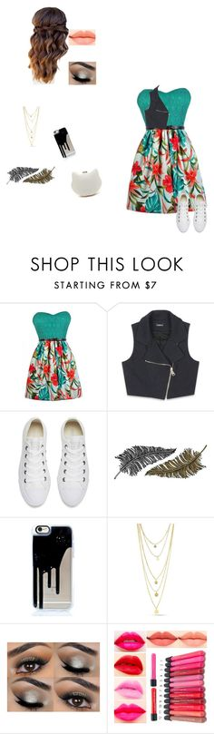 """""""Yay"""" by johnsonbee ❤ liked on Polyvore featuring Bebe, Converse and Paperself"""