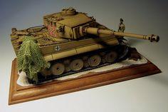 Finished Model - Tiger I Ausf. E/H1 Heavy Tank Battalion Afrika Korps.