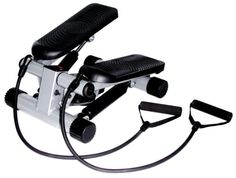 Mini Stepper with Resistant Band Full body workout. Resistance bands work the upper body while the steps work the lower body. With speed, timer, steps and calorie counter.