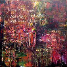 Se7en, painting by Rodney Beecher Roberts, http://www.artbybeecher.com