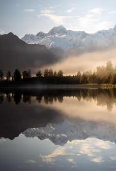 Lake Matheson Reflections (New Zealand) by earl cook | Website | Facebook