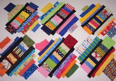 """X"" MARKS THE BLOCK - THE TUTORIAL   Are your strippy scrap bins or bags stuffed to bursting?  This is a great scrappy project t..."