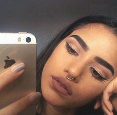 Image about pretty in Hair & Makeup Goals😍😍😍 by Naya♡ Beauty Makeup Tips, Makeup Goals, Makeup Inspo, Makeup Inspiration, Makeup Ideas, Nail Ideas, Kiss Makeup, Eye Makeup, Hair Makeup