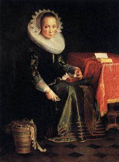 Portrait of Eva Wtewael, 1628  Joachim Wtewael - by style - Northern Renaissance
