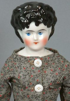 "Super Rare ""Princesse Emilie"" 15"" China Lady Doll Elaborate Updo Exposed Ears Cabinet Ready!"