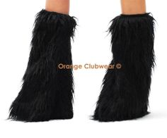 GoGo Rave Dancer Wear Boot Covers Black Leg Warmers Sleeves