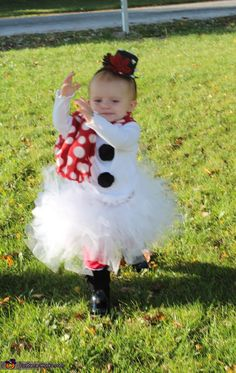 Frosty the Snow Princess - Homemade costumes for babies