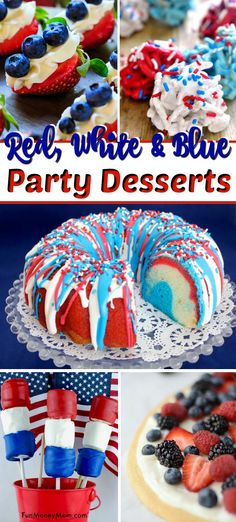 Summer Desserts – Looking for some awesome Memorial Day desserts, of July desserts or just red, white and blue food for your summer party? From stuffed strawberries to patriotic cakes, these dessert recipes are perfect for any gathering! Memorial Day Desserts, Memorial Day Foods, Dessert Party, Party Desserts, Holiday Desserts, Holiday Treats, Patriotic Desserts, Blue Desserts, 4th Of July Desserts