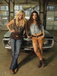 "Miranda Lambert and Danica Patrick on the set of ""Fastest Girl in Town"""