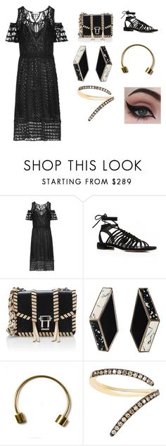 """Untitled #375"" by myarv ❤ liked on Polyvore featuring See by Chloé, Stuart Weitzman, Proenza Schouler, Brandy Pham, Sho and Concrete Minerals"