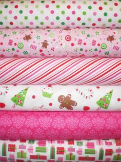 Riley Blake Christmas Candy Fabric   by spiceberrycottage on Etsy