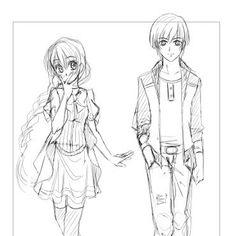 Kleines #Charaktersheet von Sina und Alex aus dem zweiten #Manga Kapitel #Verknipst an dem ich gerade mit @alicubi arbeite ^^ #anime #otaku…