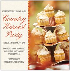 Get a premium country harvest party invitation from @sandrashm and Evite.