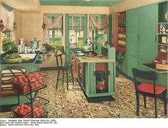 1940s kitchen designed by Hazel Dell Brown (my new inspirational female from the past - a design warrior)