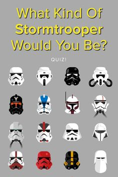 What Kind of Stormtroopers would you be in Star Wars? Take this quiz and find out today! I got scout trooper