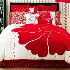 Teenage Girls Bedroom Decoration Idea with Cute Comforters Black Bedroom Design, Bedroom Red, Woman Bedroom, Bedroom Colors, Red Bedrooms, Diy Bedroom, Master Bedroom, Teenage Girl Bedroom Decor, Girls Bedroom